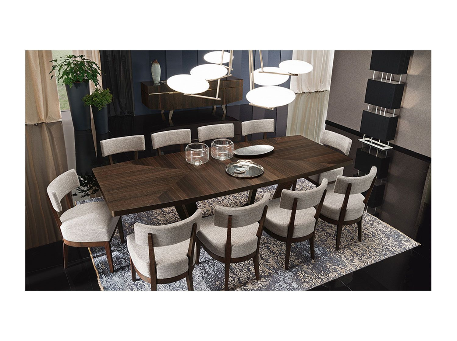 Academy Dining Table 208cm With One Leaf From Dansk Contemporary Dining Room Sets Dining Room Inspiration Contemporary Dining Room