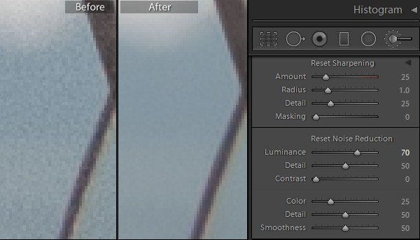 Lightroom noise reduction preset