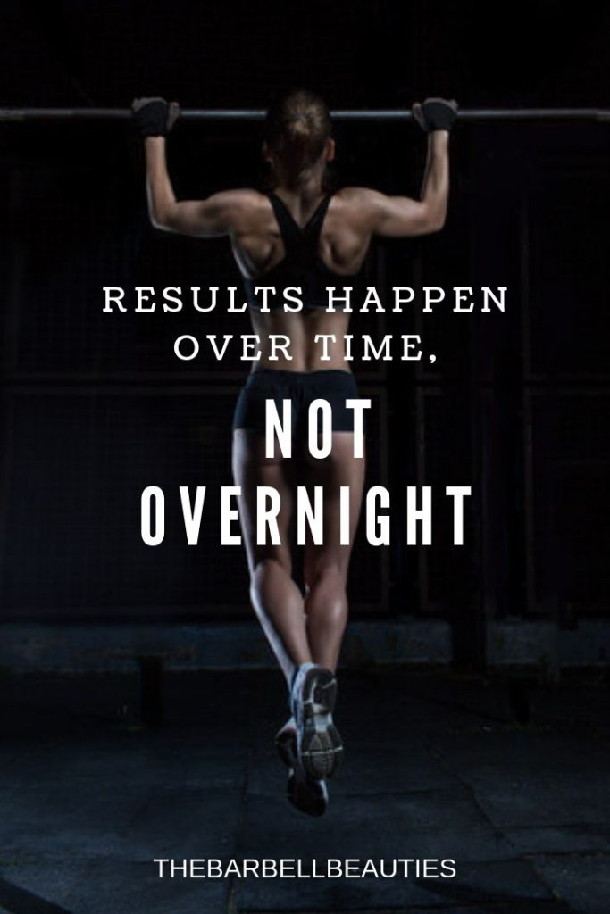 Results Happen Over Time Not Overnight Fitness Motivation