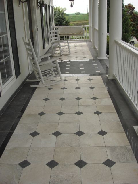 Marble Granite Front Porch Porch Tile Tile Design Back Porch
