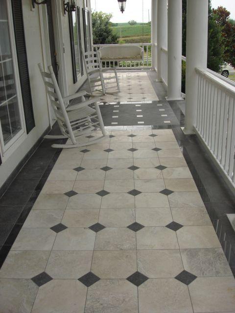 Marble Granite Front Porch Porch Tile Back Porch Designs