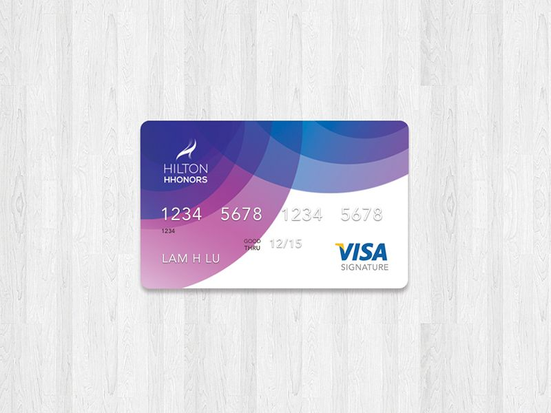 Hilton HHonors credit card | Credit card design, Card templates and ...