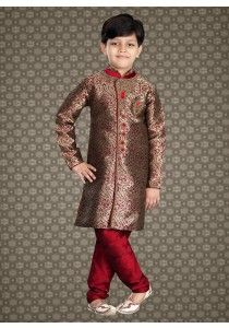 4661ca1dd675 Latest Indian wedding Wear For Kids in Cream Color M16160
