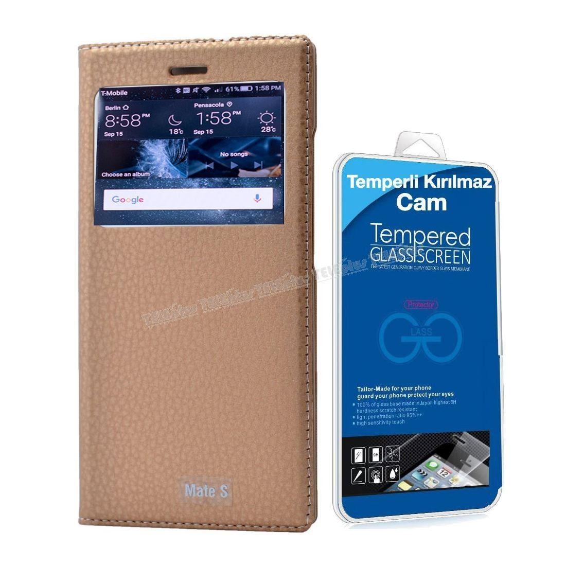 Huawei Mate S Lux Pencereli Kılıf Sarı + Temperli Kırılmaz Cam -  - Price : TL29.90. Buy now at http://www.teleplus.com.tr/index.php/huawei-mate-s-lux-pencereli-kilif-sari-temperli-kirilmaz-cam.html