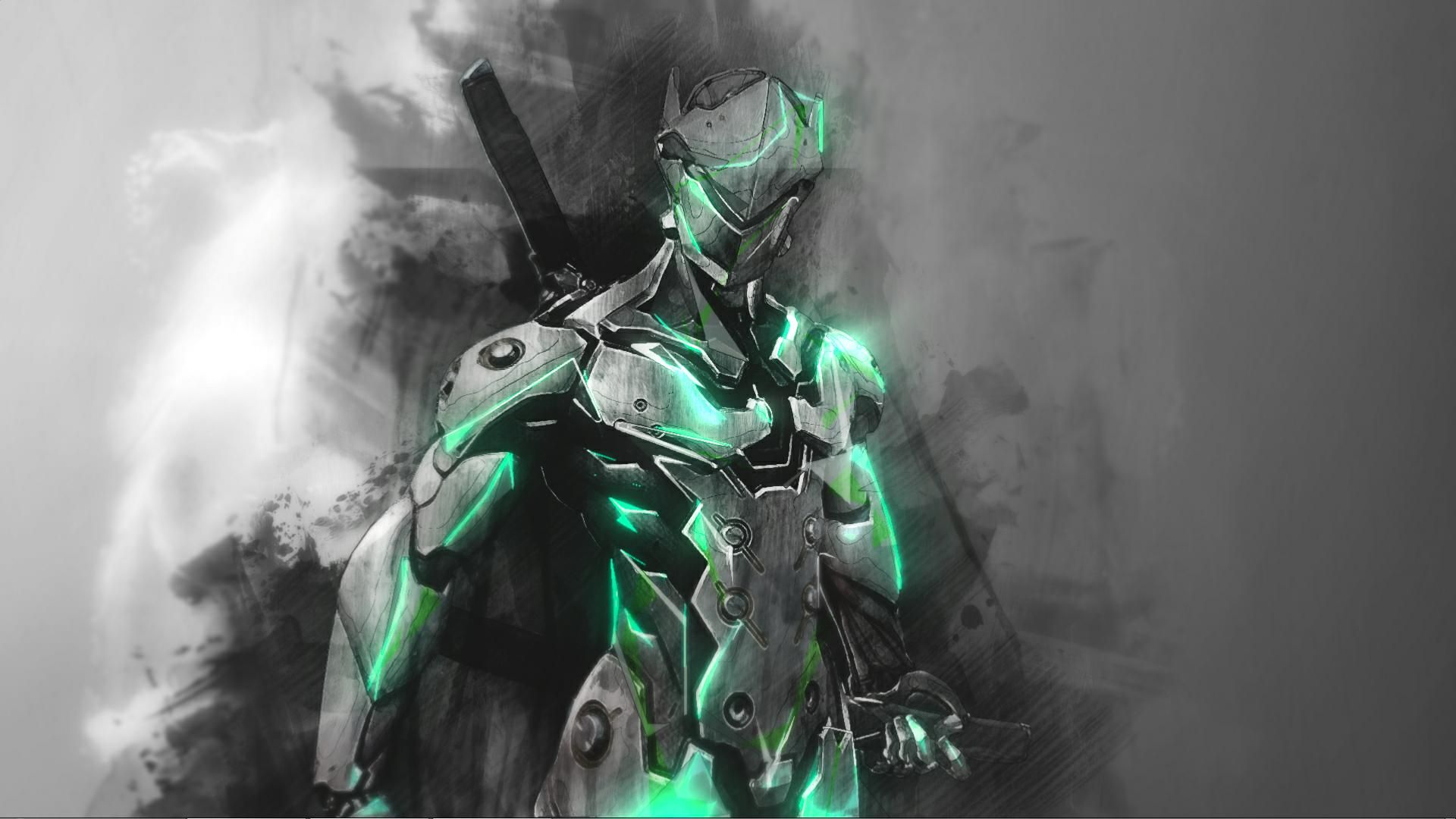 overwatch Genji wallpaper for Wallpaper Engine Искусство