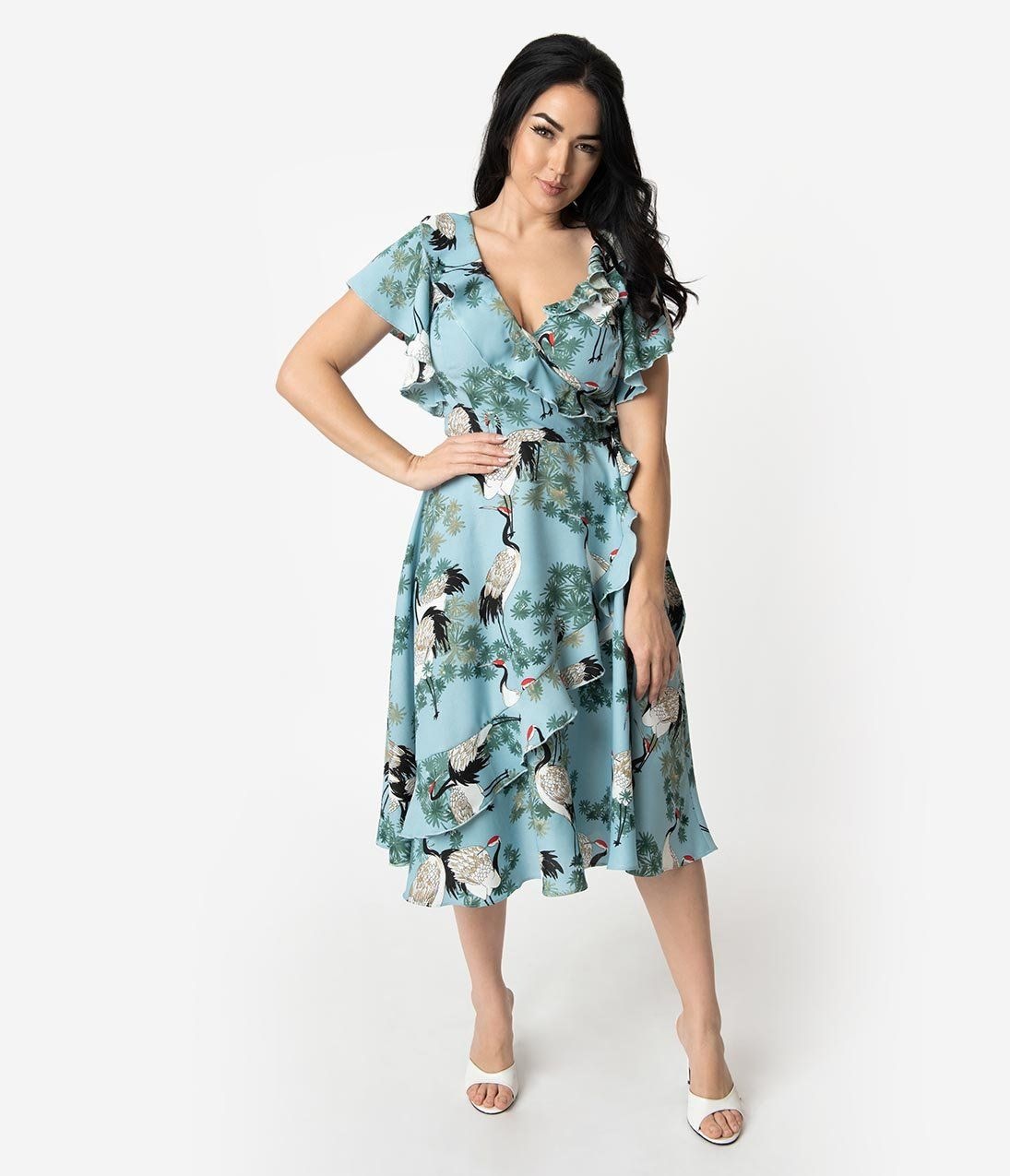Pin By Mary Snyder On Goodwood Revival Wrap Dress Unique Dresses Vintage Brand Clothing