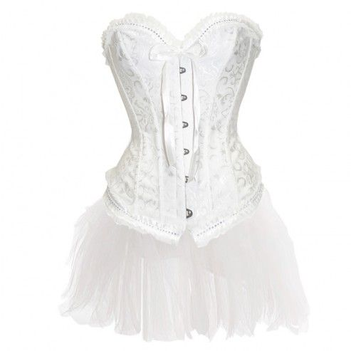 white bridal corset dress outfit 25  white corset