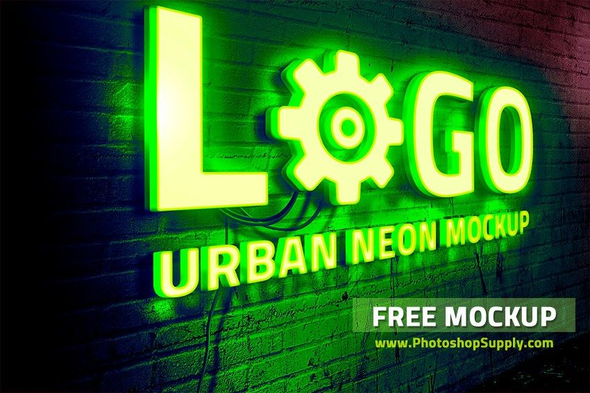 Download Free Neon Sign Mockup Photoshop Supply Free Logo Mockup Sign Mockup Mockup Photoshop