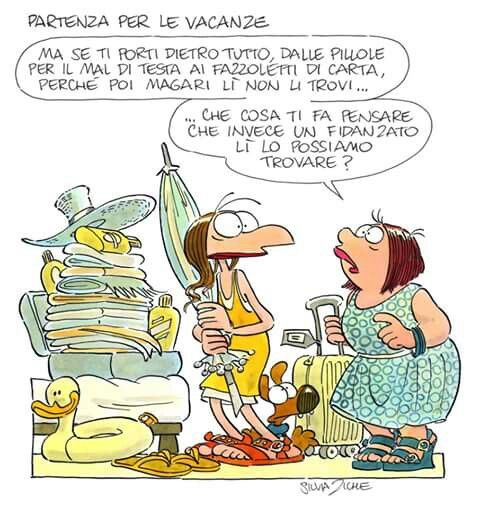 Favoloso Partenza x le vacanze | Silvia Ziche vignette | Pinterest CR85