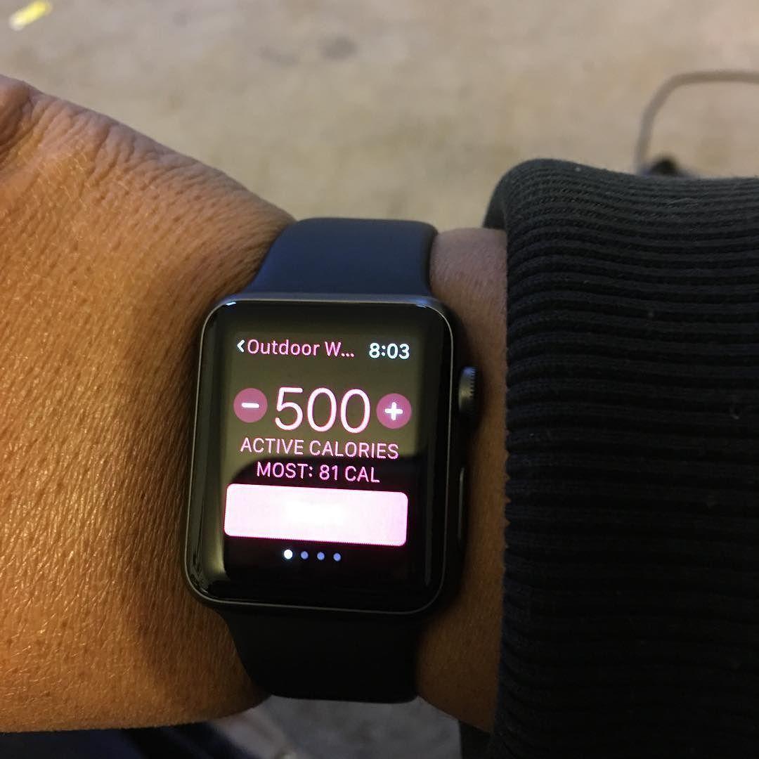 My goal today! Burn 500 on my Walk/Run #gettingfit #goodbyeobesity #applewatch #fitnessgoals by msgsjourneytohealth
