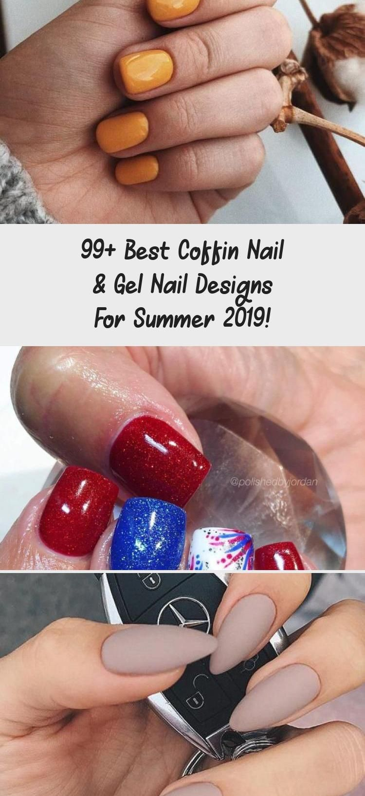 99+ Best Coffin Nail & Gel Nail Designs For Summer 2019!