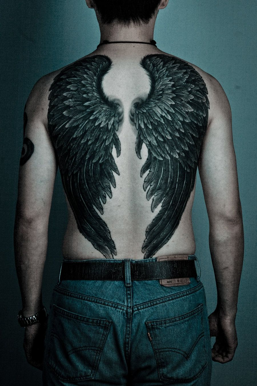 Back Wing Tattoos For Men Perfect Art Wing Tattoo Men Feather
