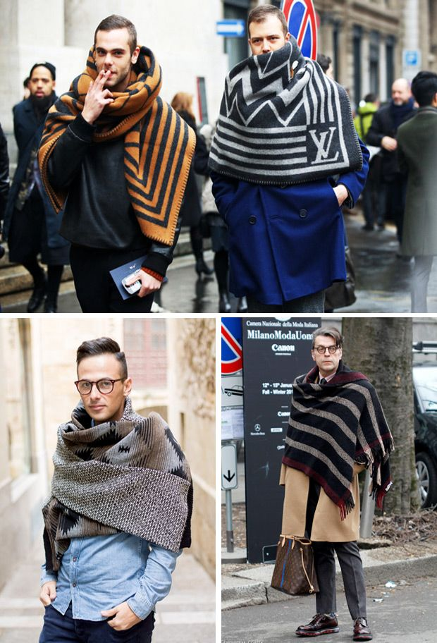 How To Wear Blanket Scarves For Winter | Mens Fashion ...