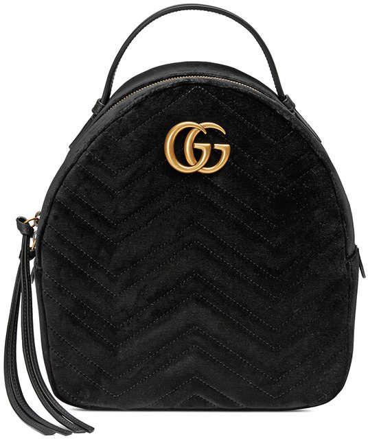 77c08a885da5 Gucci GG Marmont velvet backpack   Handbags   Backpack bags, Fashion ...
