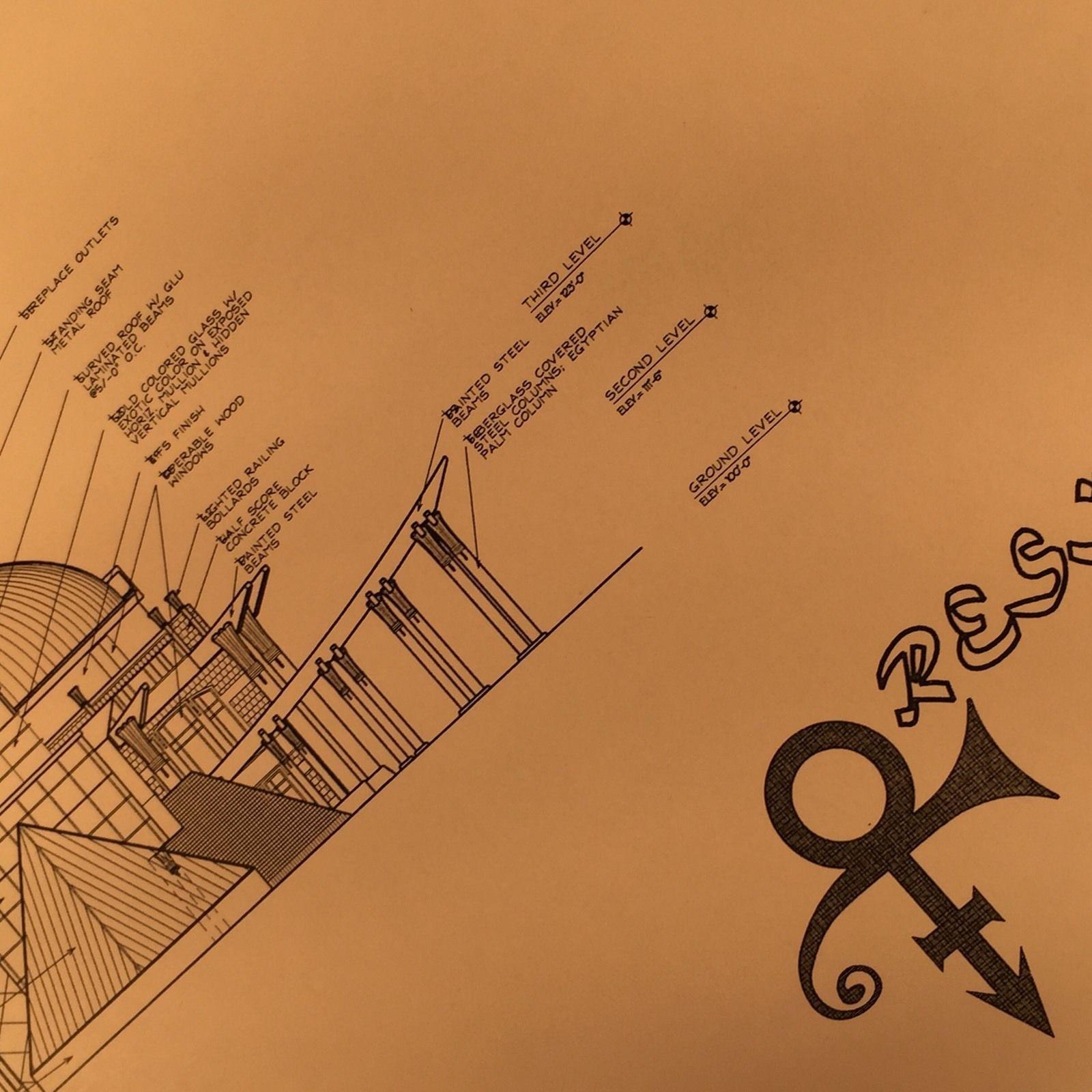 Purple Prince Secret O Symbol House Floor Plans 6 Set V Very Rare Prince Paisley Park O Symbol Prince