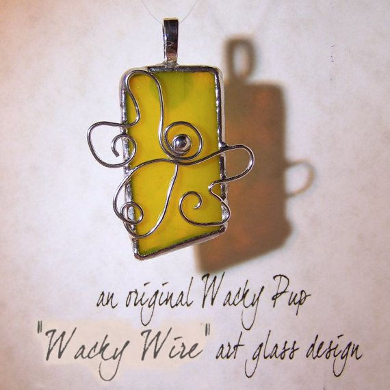 Handcrafted One of a Kind Rejoicing Angel Pendant Tiffany Stained Glass Angelic Jewelry by WackyPup, $25.00