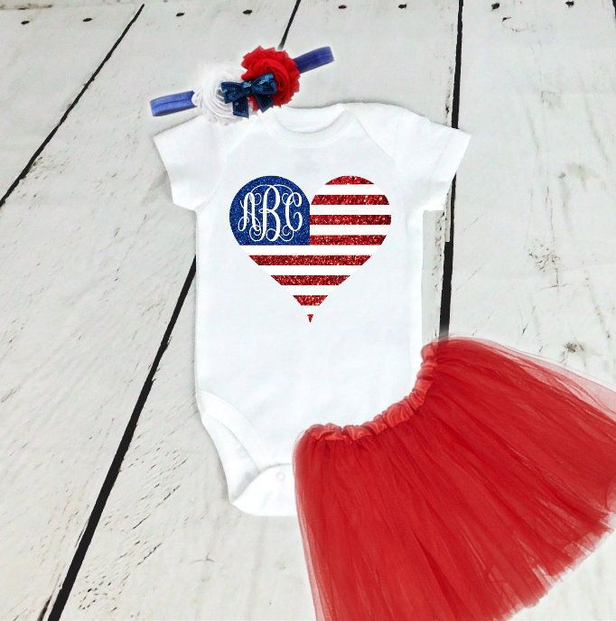 34d724c19442 4th of July Outfit Girl Fourth of July Baby Fourth of July Bodysuit ...