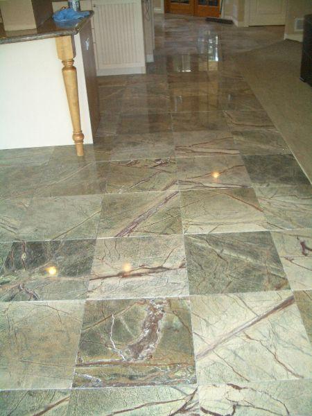 Rainforest Green Marble Floor In Longmont Green Marble Marble Floor Tile Installation