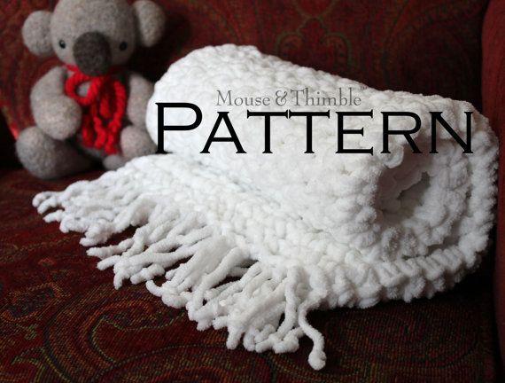 Chunky Fleece Baby Blanket with optional Fringe - Crochet ...