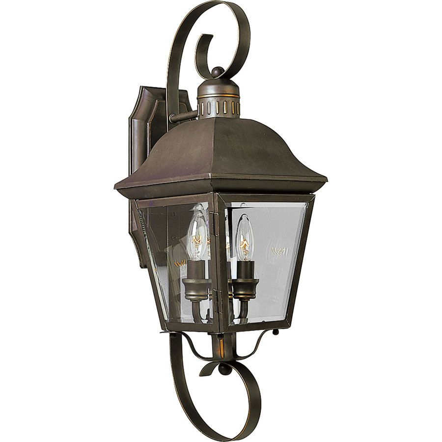 Shop Progress Lighting Andover 21.25 In H Antique Bronze Outdoor Wall Light  At Lowes.