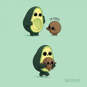 Tired Avocado by Naolito on DeviantArt