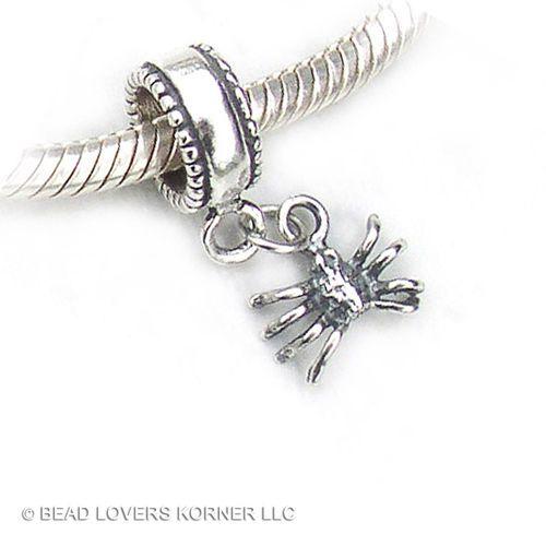 75e2937d7 Spider Charm Bead European Dangle .925 Sterling Silver Fits Pandora, Biagi,  Chamilia