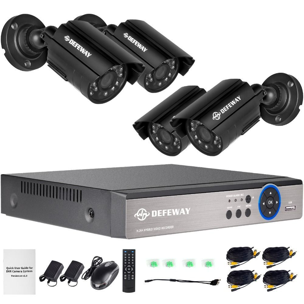 DEFEWAY 1080N HDMI DVR 1200TVL 720P HD Outdoor Home Security ...
