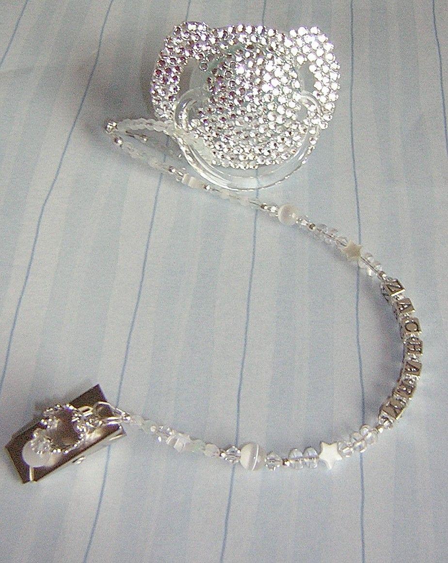 Baby Bling Prince Diamond Swarovski Crystal Binky Bling Name