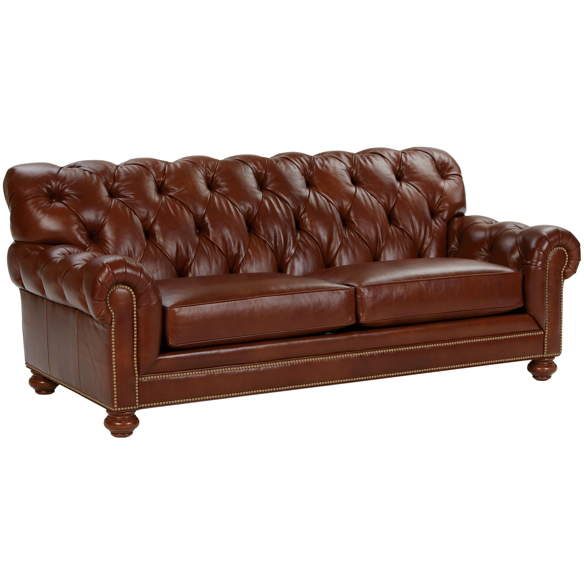 Chadwick Sofa Leather With Chaise Lounge Old English Saddle Ethan Allen Us