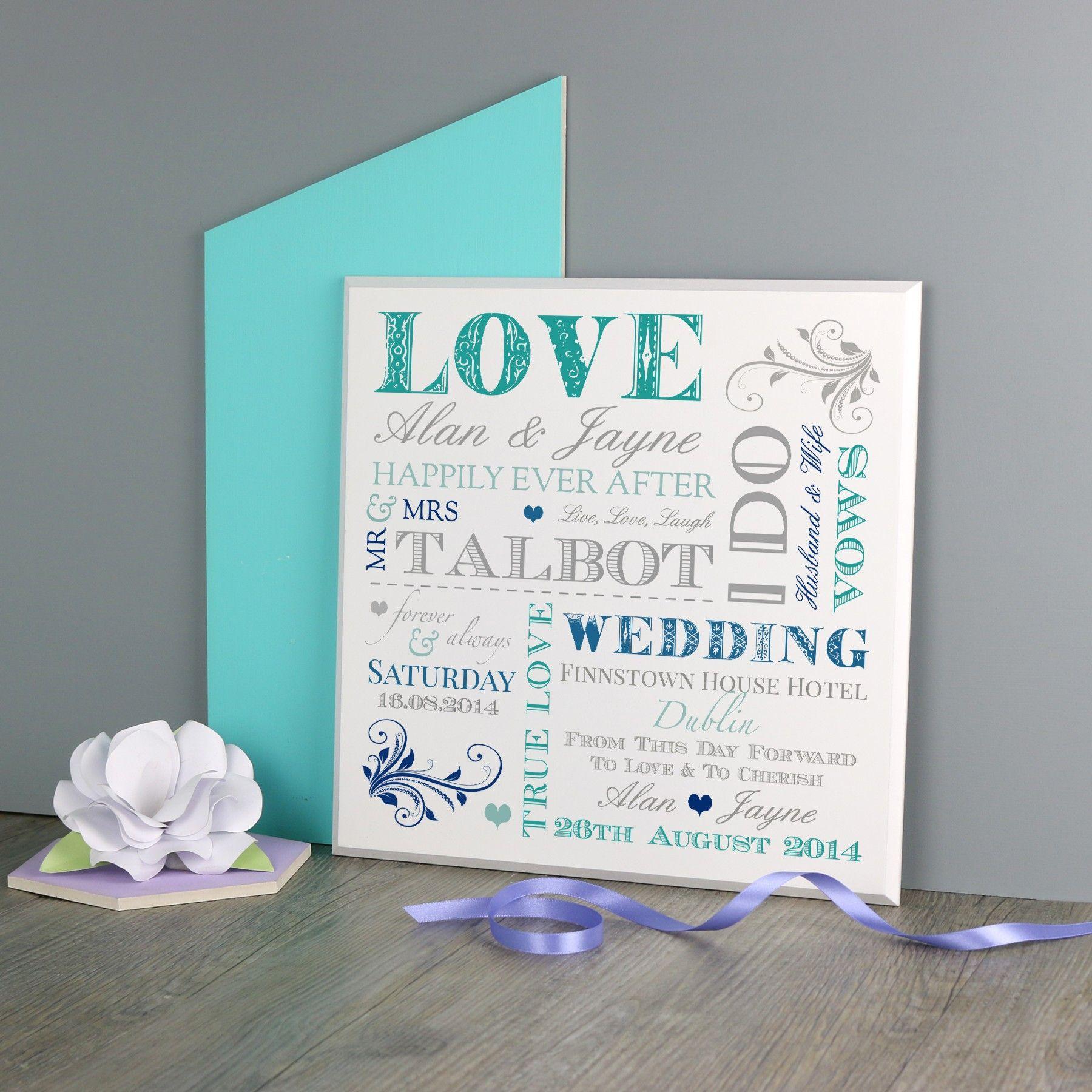 The Classic Wedding Plaque No Ordinary Gift Company Wedding