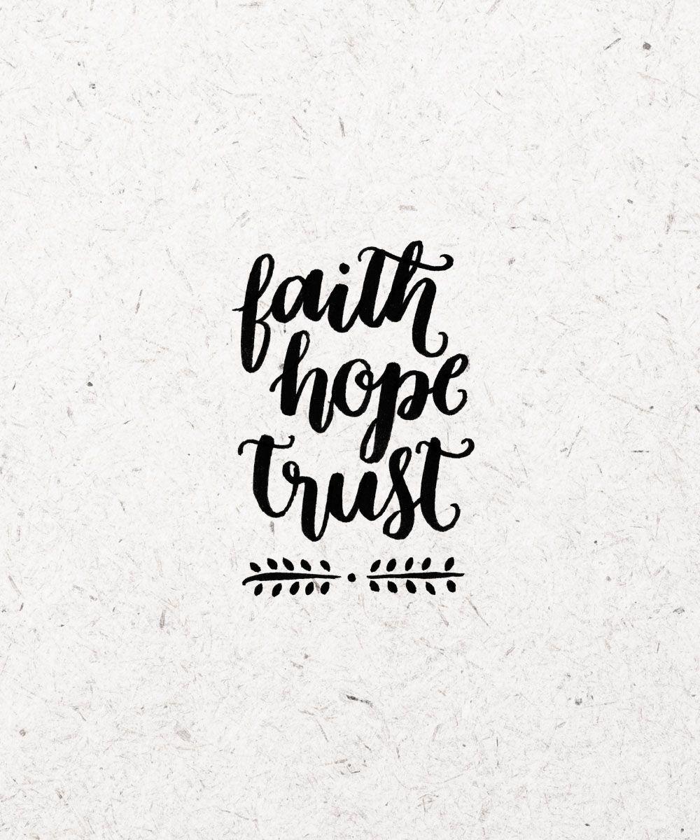 fé, esperança, confiança #typography