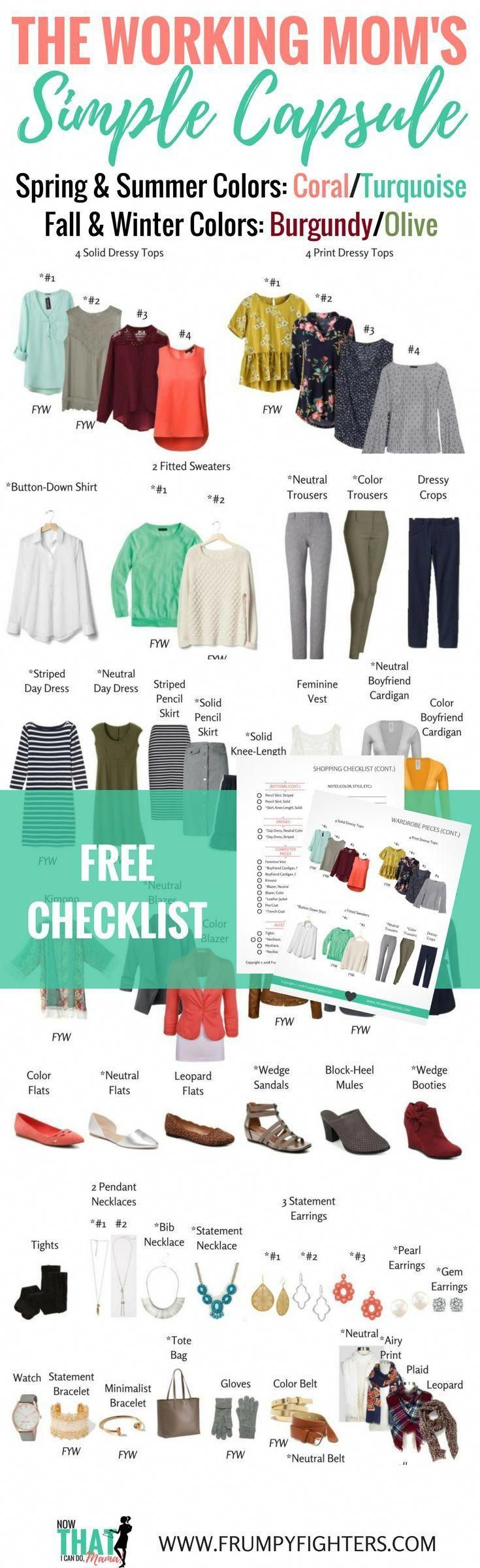Simple, easy, & gorgeous wardrobe plan for working MOMS that covers all seasons! Designed for