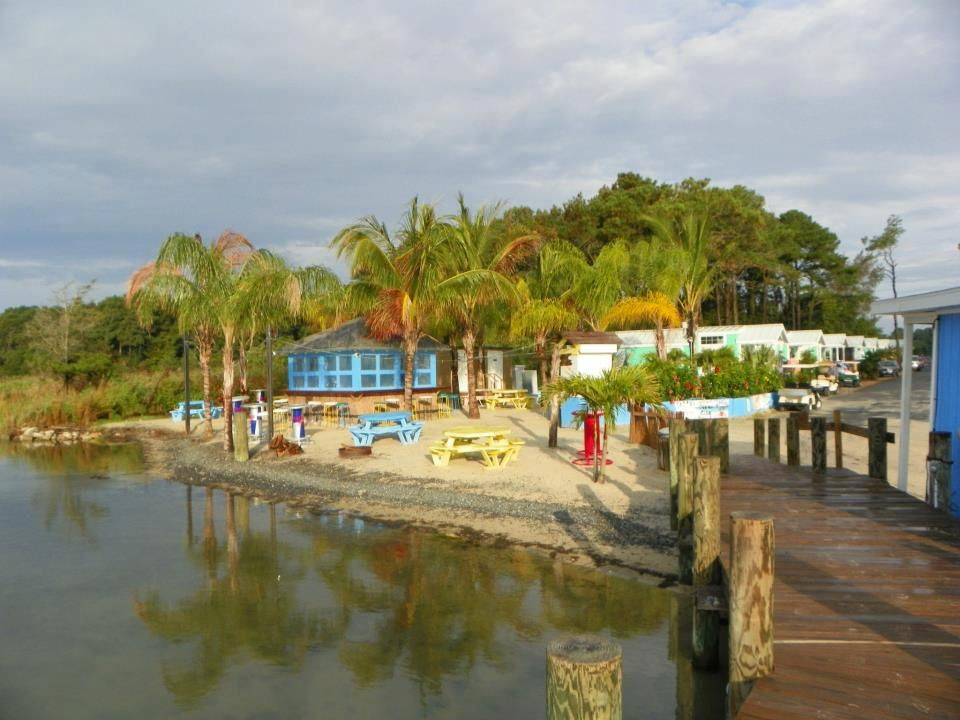 Water View Of The Tiki Bar Castaways Rv Resort And
