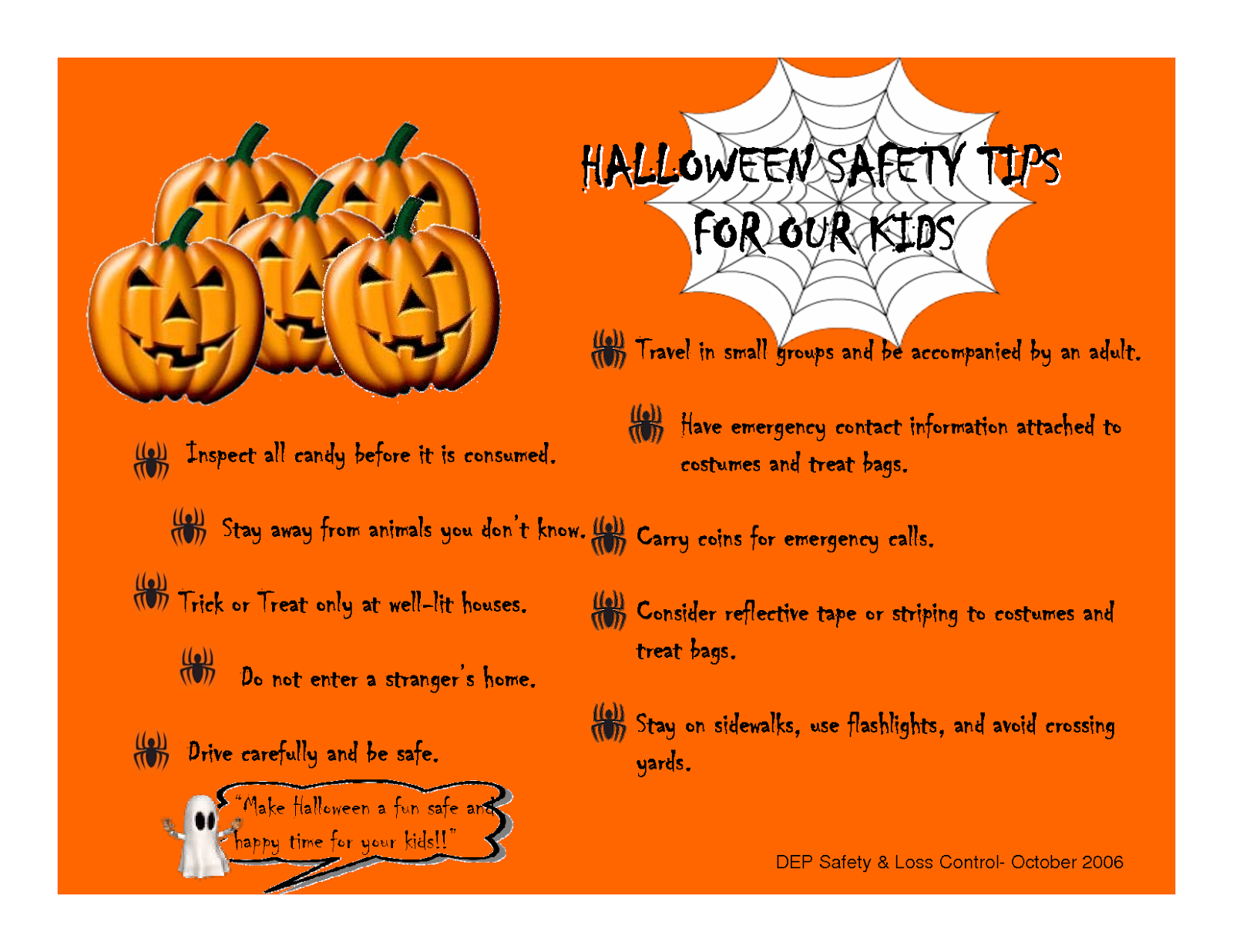 Halloween Safety Tips for our Kids. Let's all have a safe