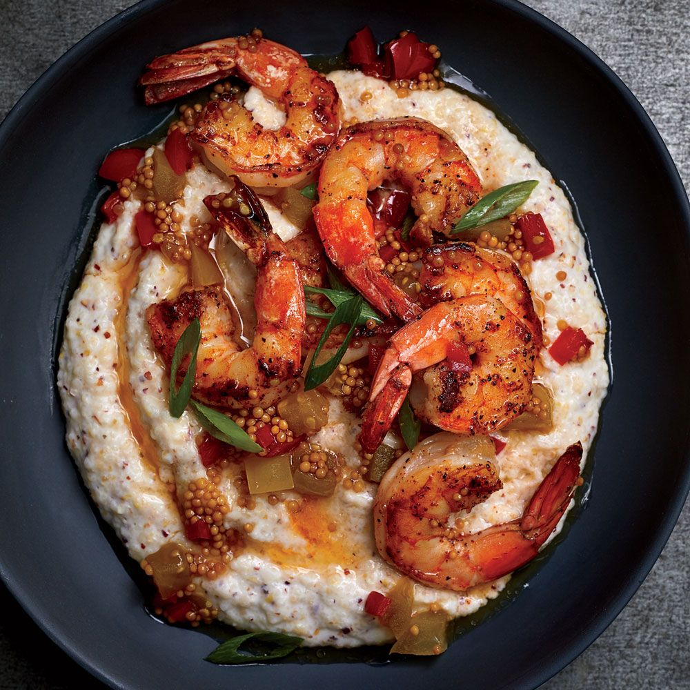 Shrimp And Grits With Mustard Seed Chowchow Recipe Recipe Shrimp N Grits Wine Recipes Recipes