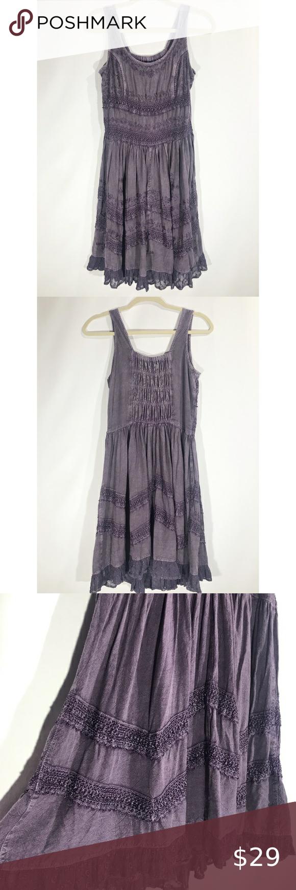 Sacred Threads Purple Embroidered Tank Midi Dress Tank Top Midi Dress Dresses Clothes Design [ 1740 x 580 Pixel ]