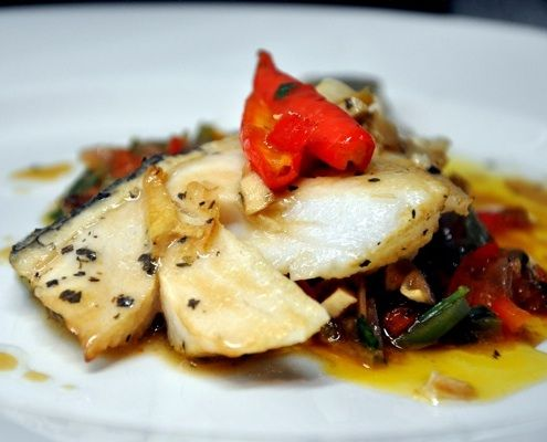 A quick and simple fish dish, healthy enough for the post holiday season, and poetic enough to inspire appetite.