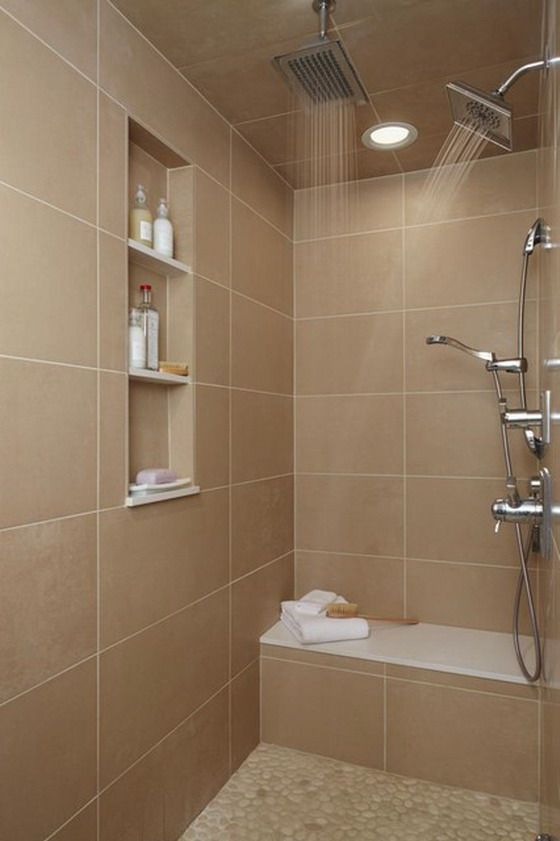 Brown Wall Tiles In Small Contemporary Bathroom  Home Sweet Home Amusing Contemporary Bathroom Tile Designs Decorating Inspiration