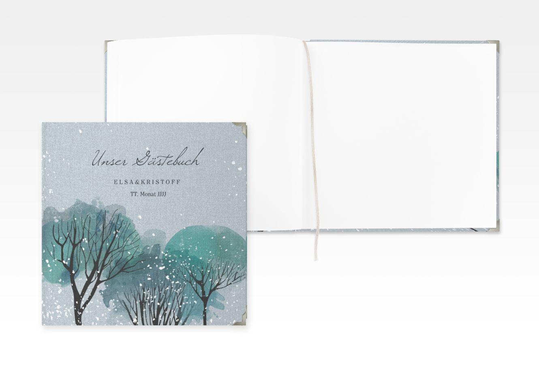Gastebuch Selection Hochzeit Winterhochzeit Leinen Hardcover Winterhochzeit Hochzeitsalbum Karte Hochzeit