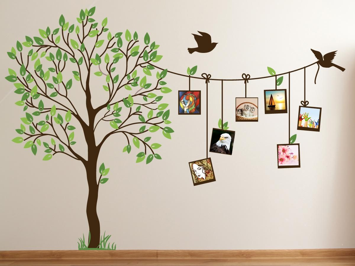 Family Tree Decor For Wall image of: cute family tree wall decal paint for bedrooms | decor