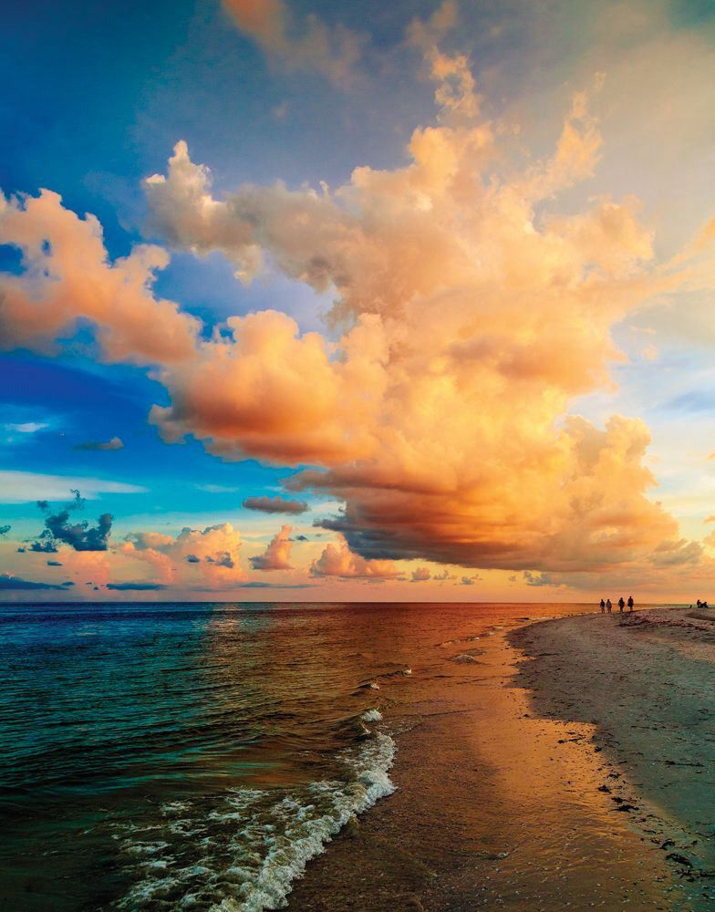 Sunset On Beach Sanibel Island