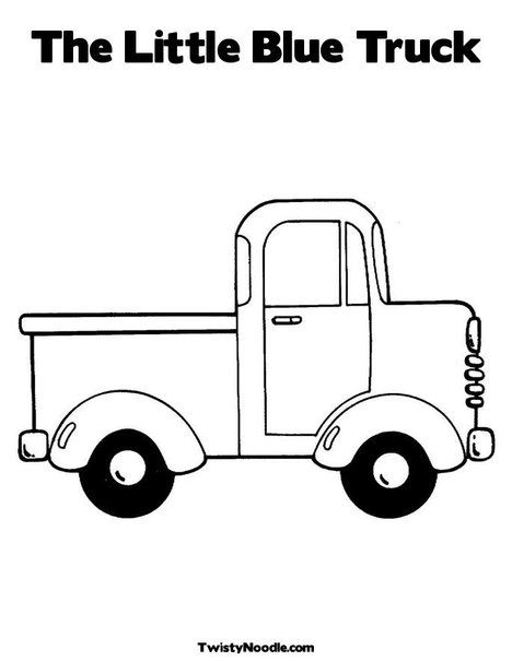 The Little Blue Truck Coloring Page from TwistyNoodle.com