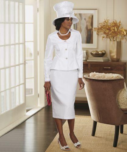 ASHRO NEW Camesha Skirt Suit Misses Size 14 White Wedding