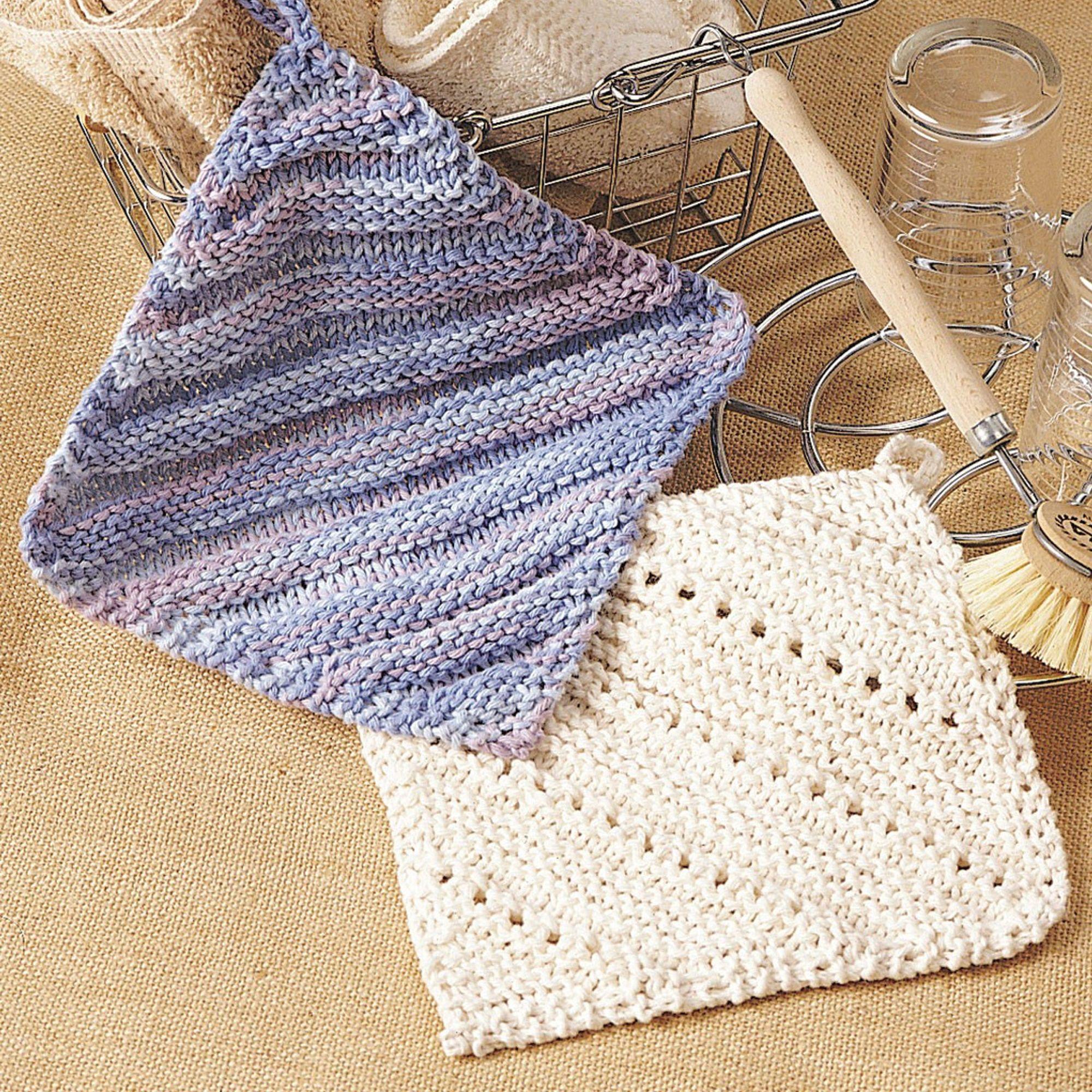FREE Knitting Pattern. Bernat Eyelet & Ridge Dishcloth ...