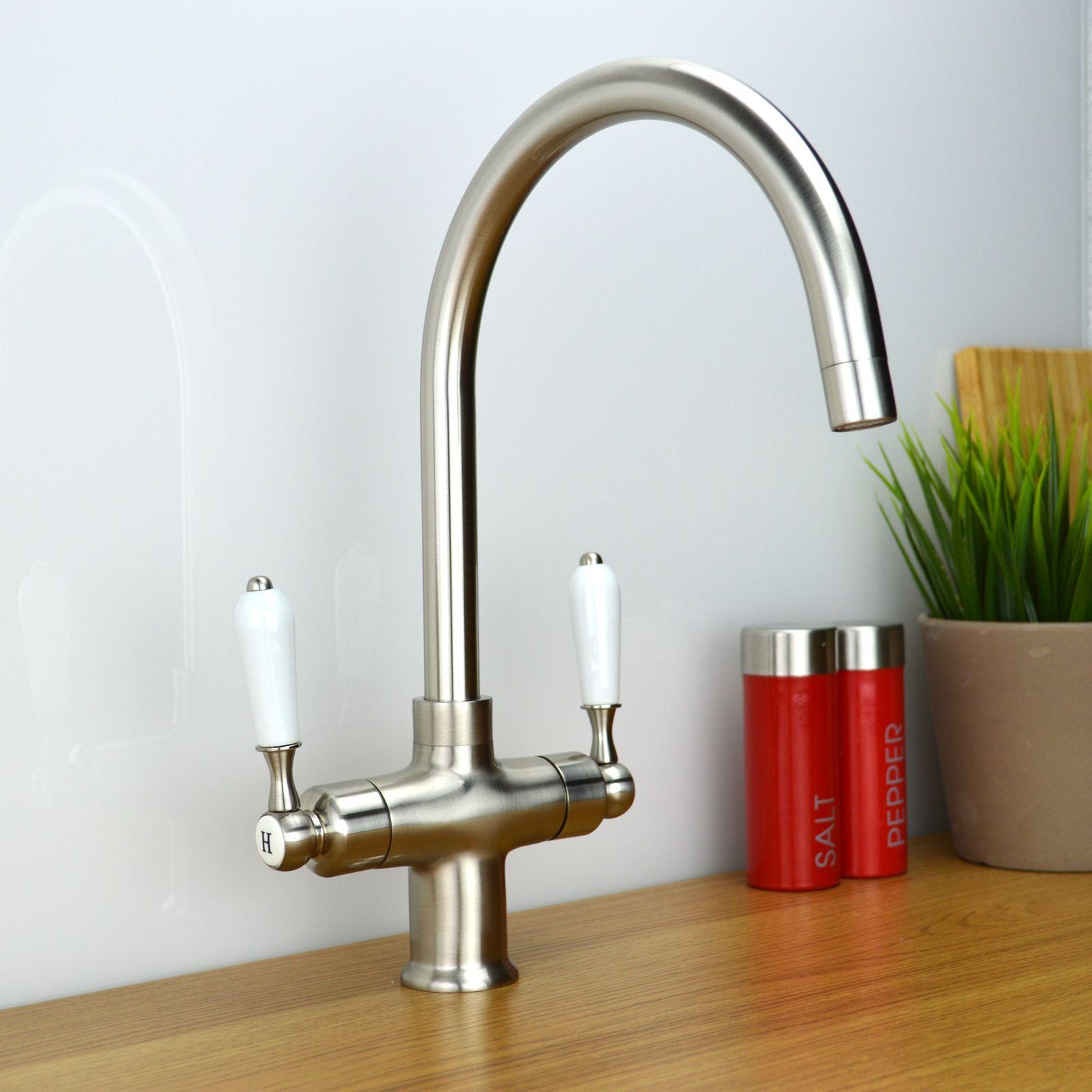 Enki Traditional Victorian Kitchen Sink Mixer Moloc Tap Br Bronze Bridge
