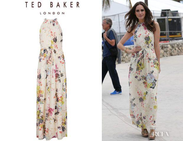 Ted baker silk maxi dress