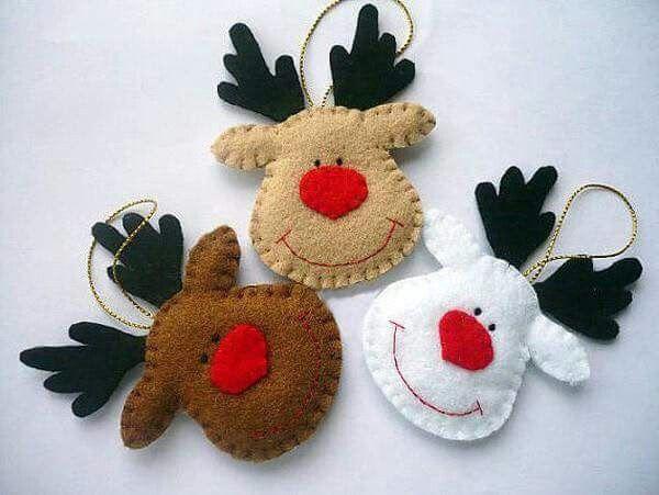 Ttes de rnes Karcsony Pinterest Navidad Fieltro y Fieltro