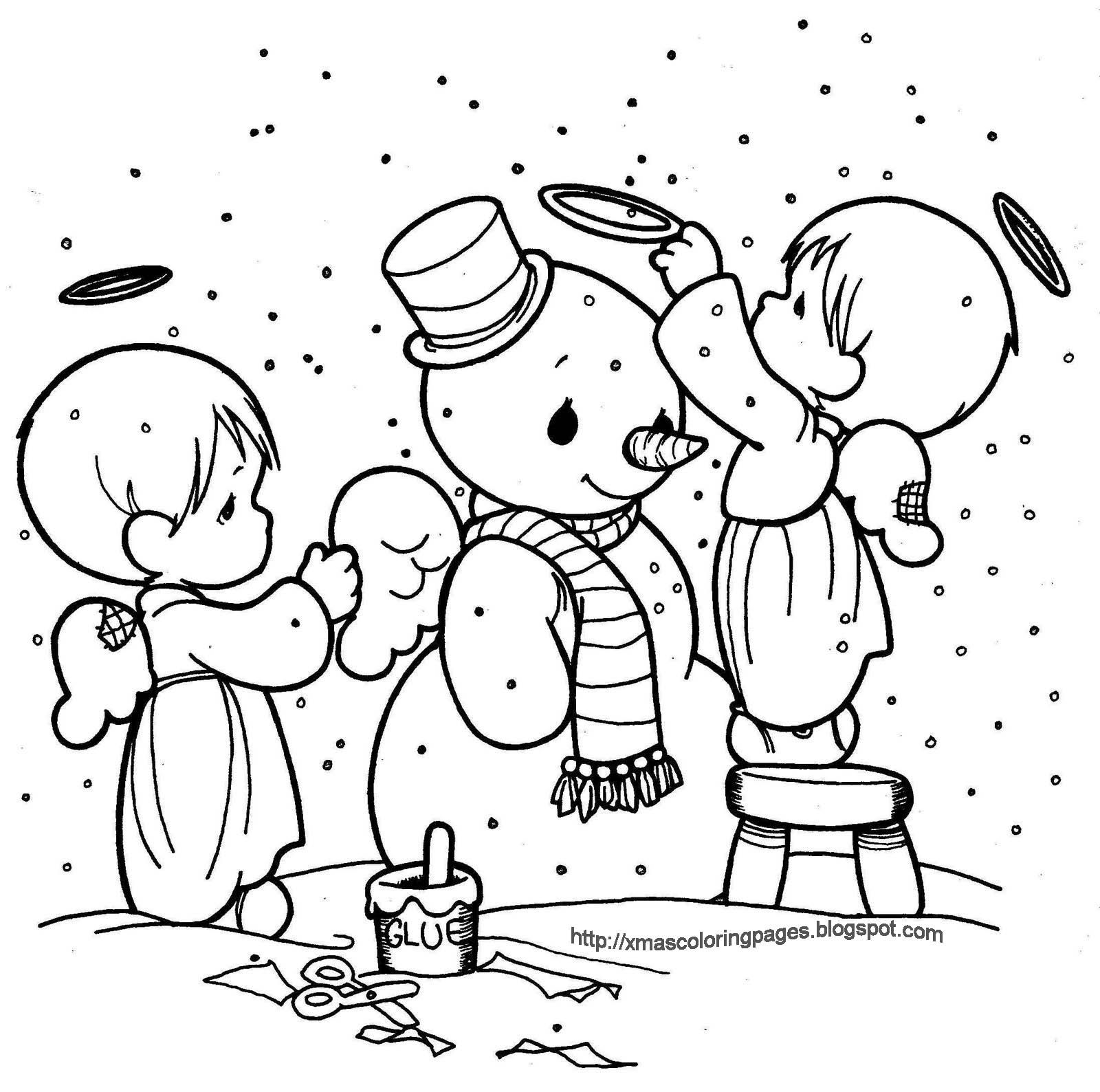 Xmas coloring book pages are great to have around at Christmas for ...