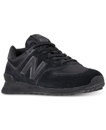 a646287a06 New Balance Men s 574 Casual Sneakers from Finish Line - Black 8 in ...