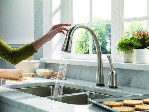 Ordinaire Kitchen, Modern Kitchen Faucet Design Looks So Usefull Coupled With  Stainless Sink Also Marble Countertop: Choosing The Best Kitchen Faucets.